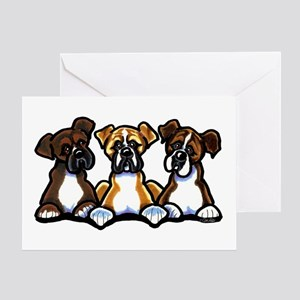 Three Boxer Lover Greeting Card