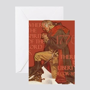 Washington There is Liberty Greeting Card