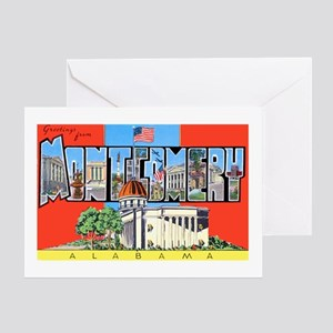 Montgomery Alabama Greetings Greeting Card