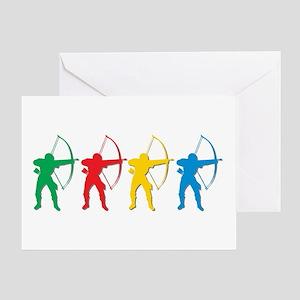 Archery Archers Greeting Cards