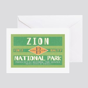 Zion National Park (Retro) Greeting Card