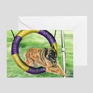 bel terv  agility Greeting Card