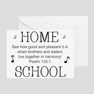 Psalm 133 Homeschool for light backg Greeting Card