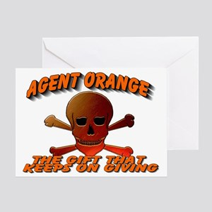 AGENTORANGE WITH SKULL Greeting Card