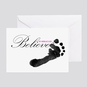 Believe in Miracles Greeting Cards