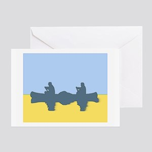 CHALK BLUE SKY CANOE Greeting Card