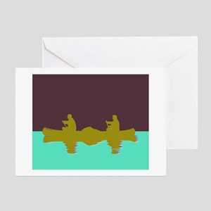 NIGHT SKY CANOE Greeting Card