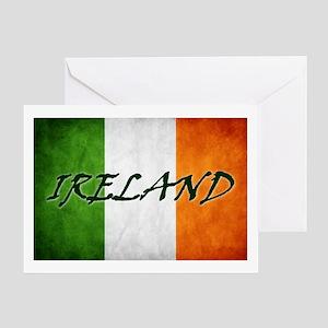 """IRELAND"" on Irish Flag Greeting Card"