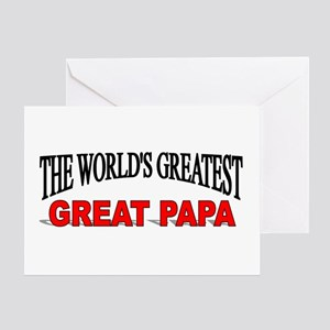 """""""The World's Greatest Great Papa"""" Greeting Card"""