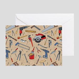 Work Tools on Wood Greeting Card