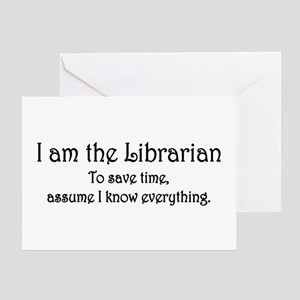 I am the Librarian Greeting Card