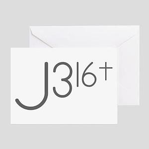 J316Typo Greeting Cards