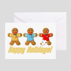 Star Trek Gingerbread Men Greeting Cards