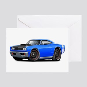1969 Super Bee A12 Blue Greeting Card