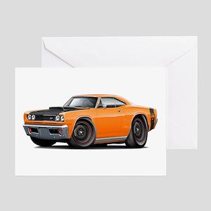1969 Super Bee A12 Orange Greeting Card