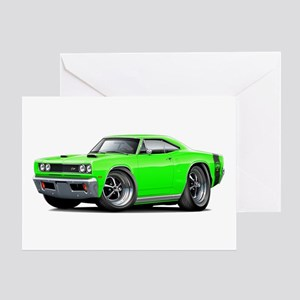 1969 Super Bee Lime Car Greeting Card