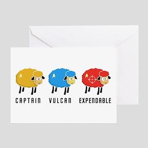 Star Trek Sheep Greeting Card