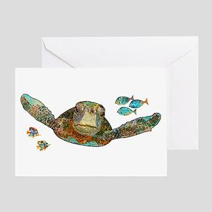 Flying Sea Turtle Greeting Card