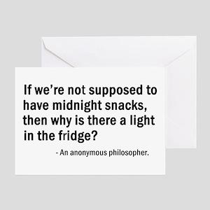'Midnight Snacks' Greeting Card