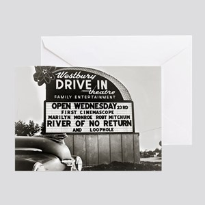 Drive-In Theater Marquee, 1954 Greeting Card