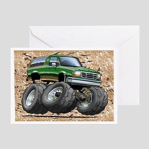 95_Green_EB_Bronco Greeting Card
