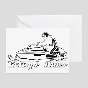 VintageRiderDarkDesign Greeting Card