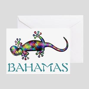 Bahamas Gekco Greeting Card