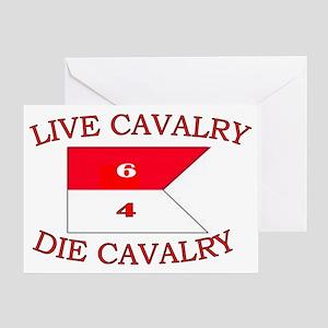 6th Squadron 4th Cavalry cap 4 Greeting Card