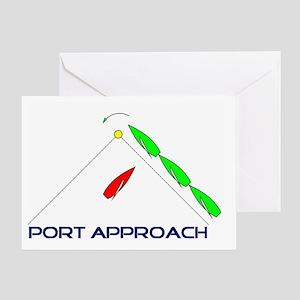 Port Approach - logo Greeting Card