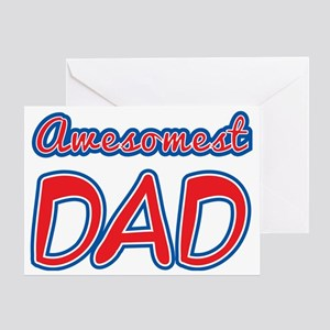 Awesomest Dad Greeting Card