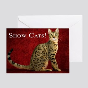 Show Cats Cover Greeting Card