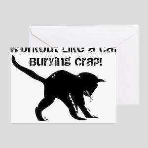 CAT CRAP - WHITE Greeting Card