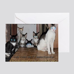 whiskers syndicate4 Greeting Card