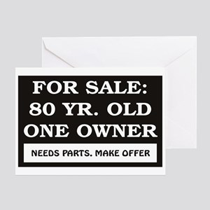 For Sale 80 year old Greeting Card