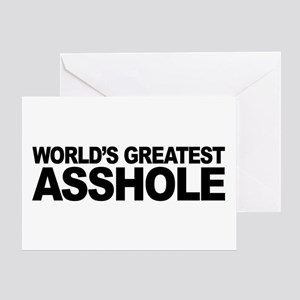 World's Greatest Asshole Greeting Card