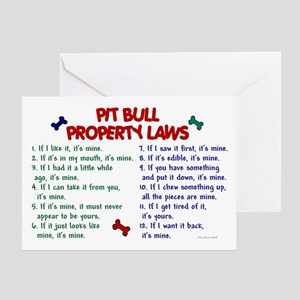 Pit Bull Property Laws Greeting Card