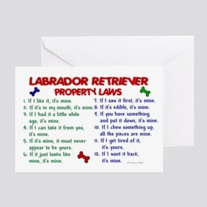 Labrador Retriever Property Laws 2 Greeting Card