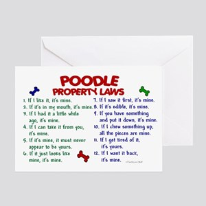 Poodle Property Laws 2 Greeting Card