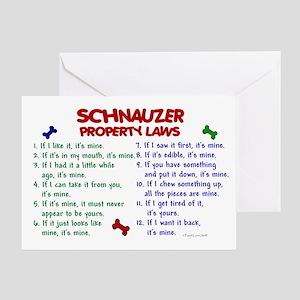 Schnauzer Property Laws 2 Greeting Card