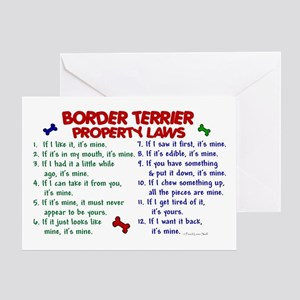 Border Terrier Property Laws 2 Greeting Card