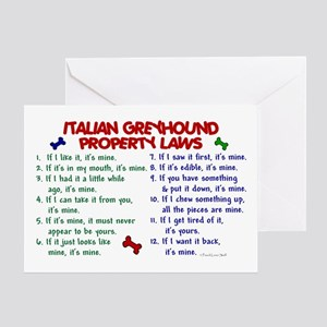 Italian Greyhound Property Laws 2 Greeting Card