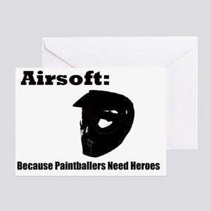 airsoft heroes Greeting Card