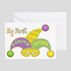 My First Mardi Gras Greeting Card