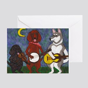 Country Dogs Greeting Card