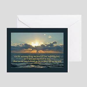Psalm 143:8 Greeting Card