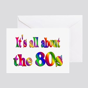 All About 80s Greeting Card