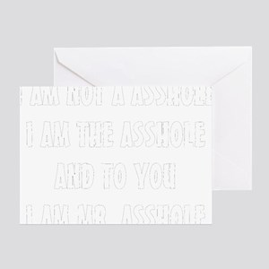 ASSHOLE-BLACK Greeting Card