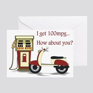 100 mpg Greeting Card