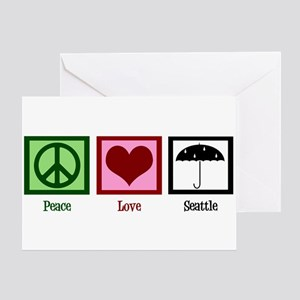 Peace Love Seattle Greeting Card