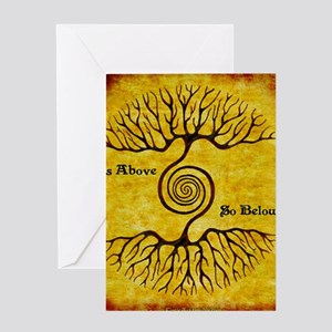 As Above So Below Color Print Greeting Card